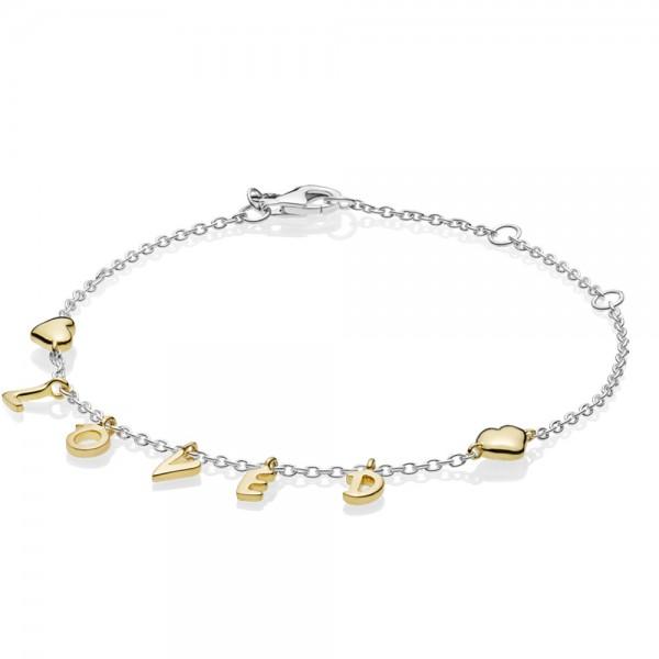 Loved Script Silver Bracelet PANDORA Armband 567804