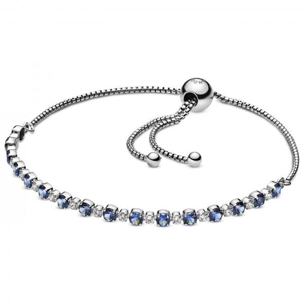 Blue Clear Sparkle Bracelet PANDORA Armband 925er Sterlingsilber 598517C01-1