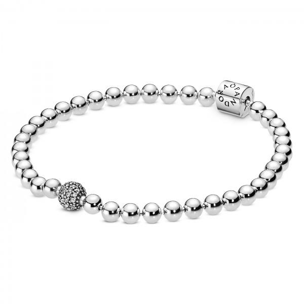 Beads und Pave PANDORA Armband 598342CZ