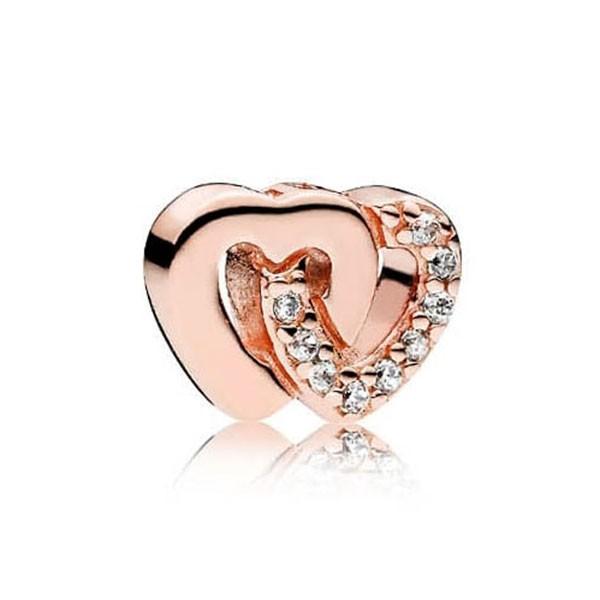 PANDORA ROSE Medaillon Element Verschlungene Herzen 786300CZ