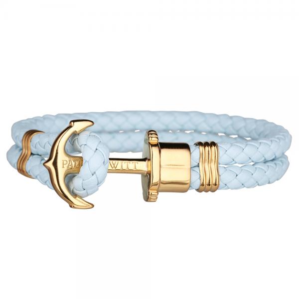 PAUL HEWITT PHREP Gold Anker Armband Blue Sky PH-PH-L-G-Bs-S
