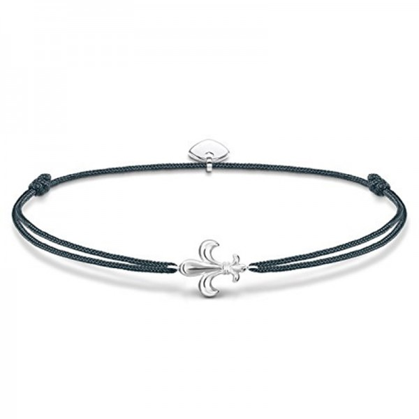 LS039-173-5-L20v Thomas Sabo Damen Armband Little Secret Lilie Grau/Silber 14-20cm