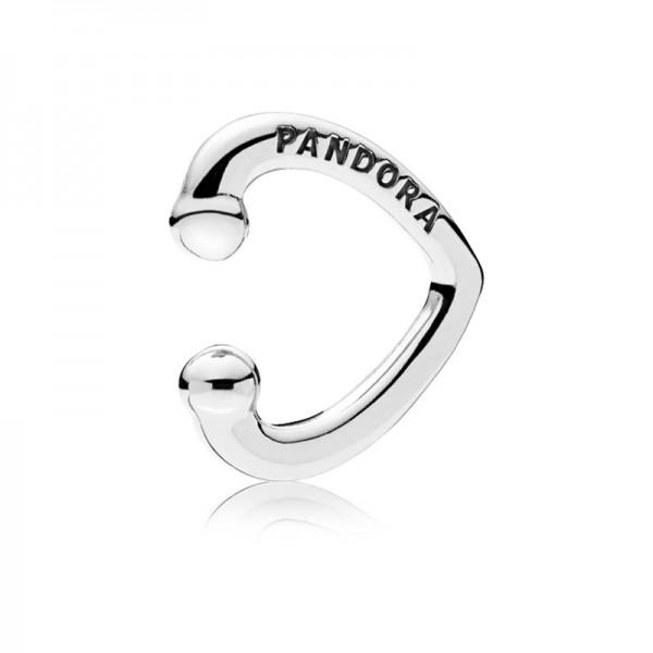 PANDORA Open Heart Cuff Ohrringe 297214