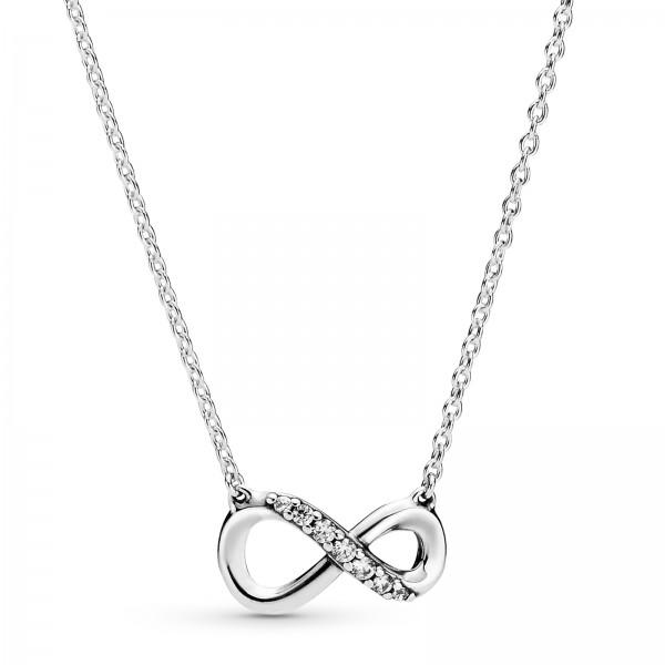 Funkelnde Unendlichkeits PANDORA Halskette 398821C01