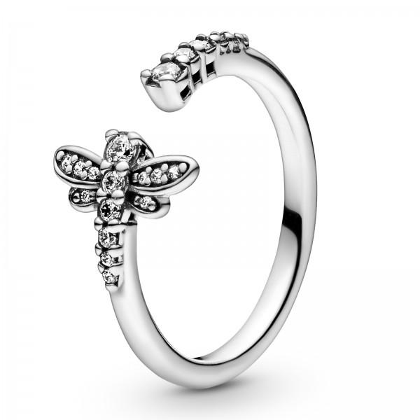Funkelnde Libelle Offener PANDORA Ring 198806C01
