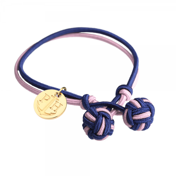 PAUL HEWITT Gold Knotenarmband Marineblau-Rosa PH-KB-NLP-S-G