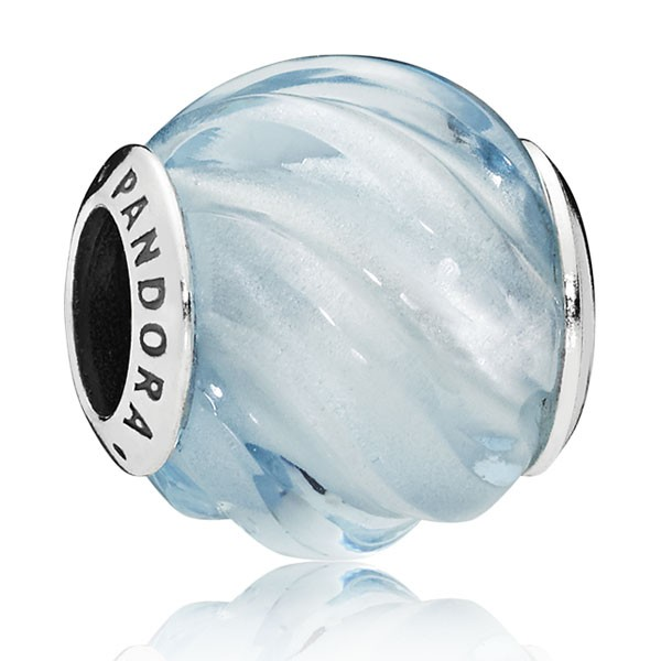 PANDORA Charm Blue Ripples 797098NAB