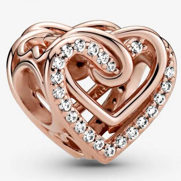 Funkelnde Verschlungene Herzen PANDORA Charm 789270C01