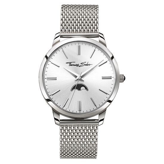 Thomas Sabo - Herrenuhr WA0324-201-201-42 mm - Spirit Moonphase Movement