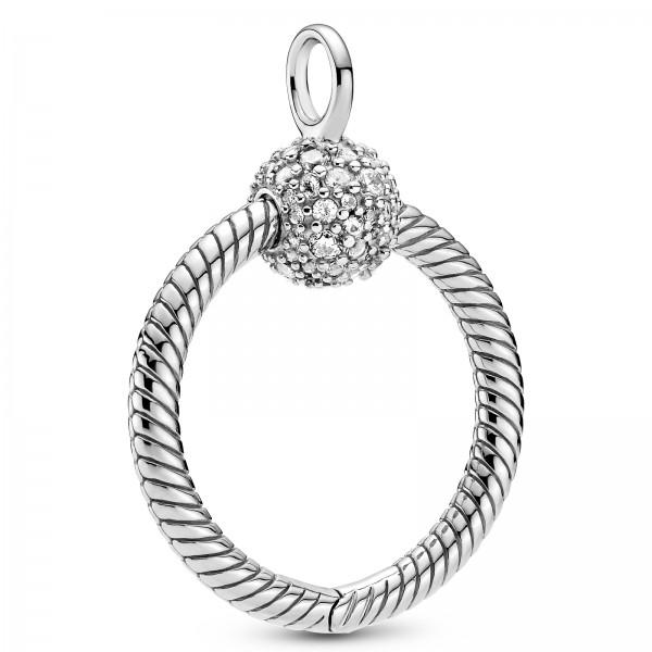 Pandora Moments Kleiner Pavé O PANDORA Halskette Kettenanhänger 399097C01