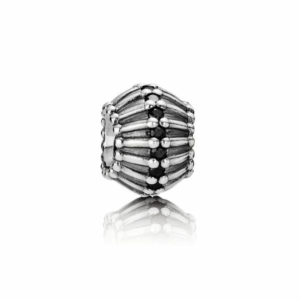 Pandora Art Deco schwarz Charm 790545CZK