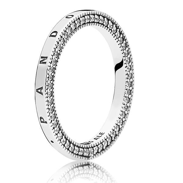 PANDORA Ring stackable Signature 197437CZ-48