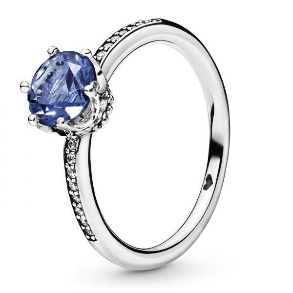 Blue Sparkling Crown PANDORA Ring 198289NSWB