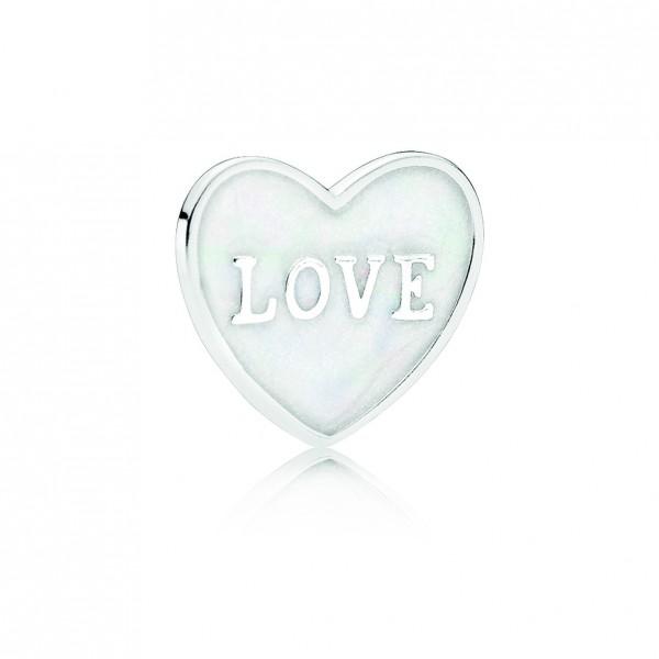 PANDORA Medaillon-Plättchen LOVE Herz-Plättchen 792112EN23
