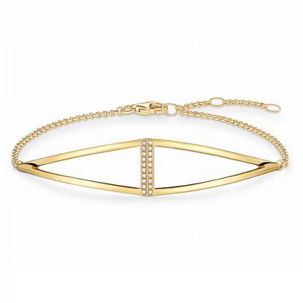 D_A0010-924-14-L19.5v Thomas Sabo Armband - Diamant weiß - 19,5 cm - Silber vergoldet Gelbgold