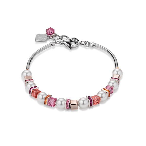 Coeur De Lion Armband Swarovski® Kristall & Crystal Pearls frontline pink 4815300400