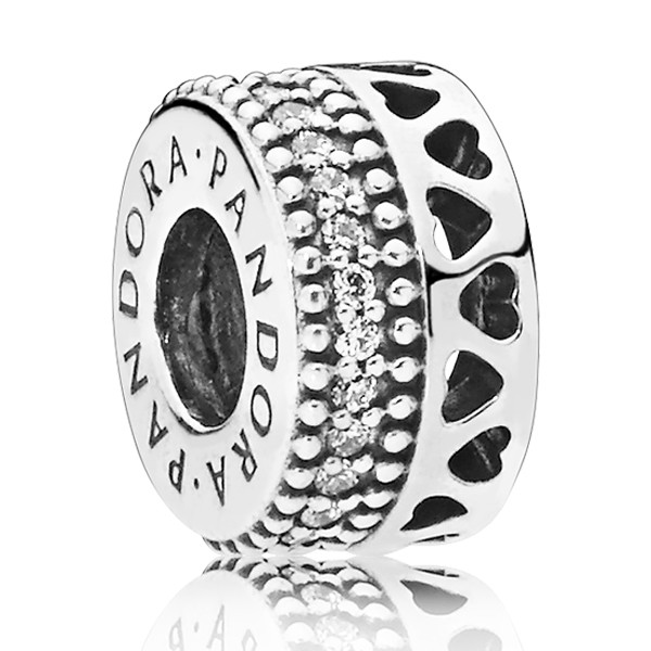 PANDORA CharmHearts silver spacer 797415CZ