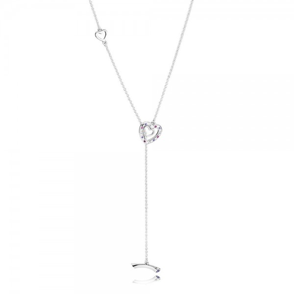 PANDORA Halskette mit Medaillon Bright Hearts Necklace 397756NRPMX-55