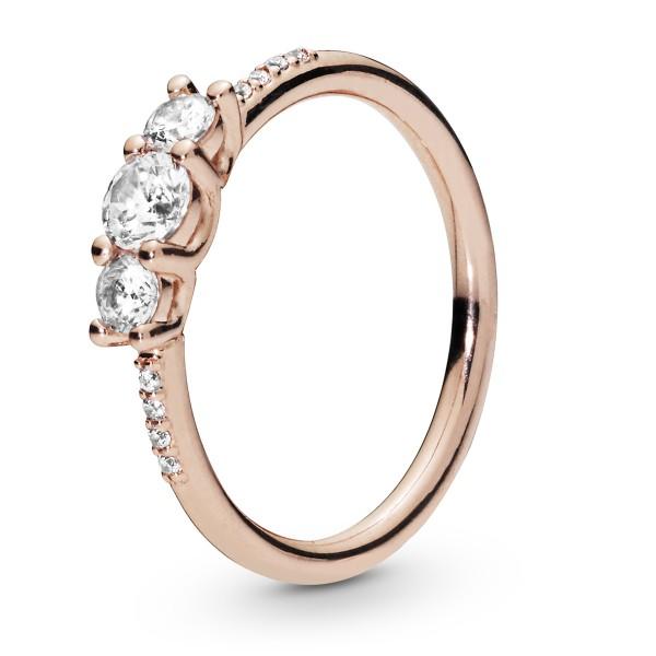 Sparkling Elegance PANDORA Rose Ring 186242CZ