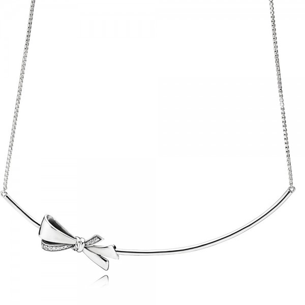 PANDORA Halskette Brilliant Bow Necklace 397233CZ-50