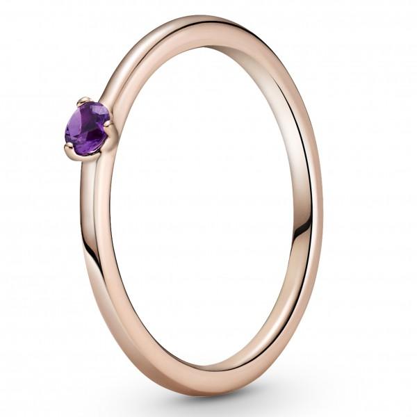 Lilafarbener PANDORA Solitär-Ring 189259C06-50