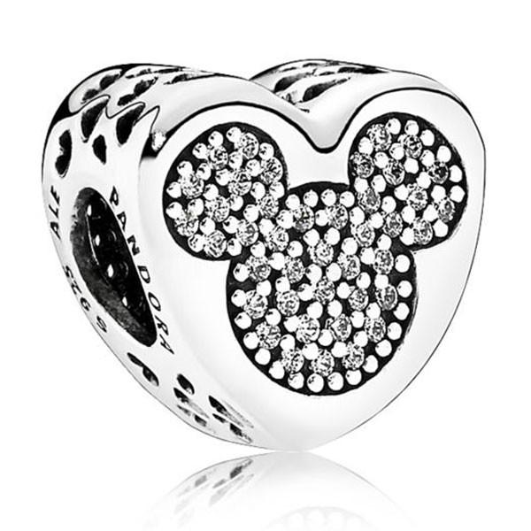 PANDORA Disney Charm Micky und Minnie Wahre Liebe 792050CZ