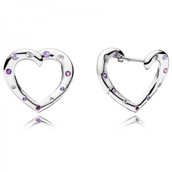 PANDORA Ohrringe Bright Hearts Hoops 297231NRPMX