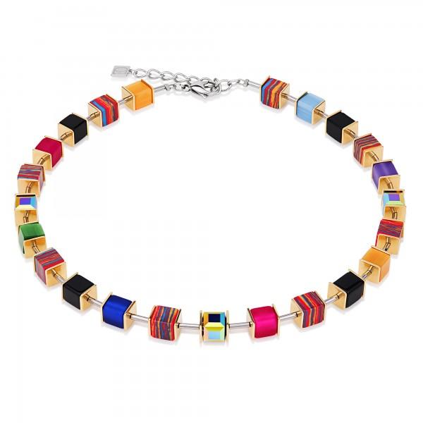 Geo Cube Collier Swarovski® Kristalle Malachit multicolor gold 4747101500