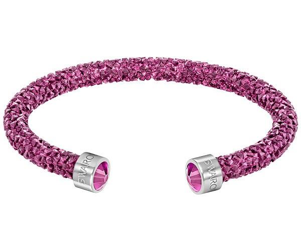 Swarovski Crystaldust Doppel-armreif, Rosa, Edelstahl 5273640