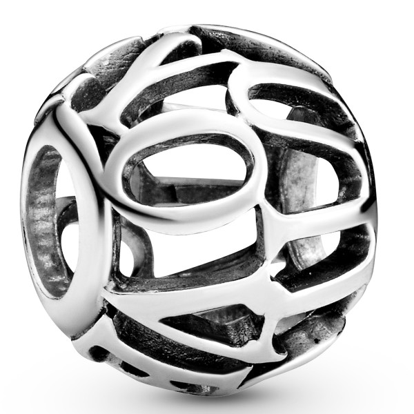 Offen gearbeitetes I Love You PANDORA Charm 798678C00