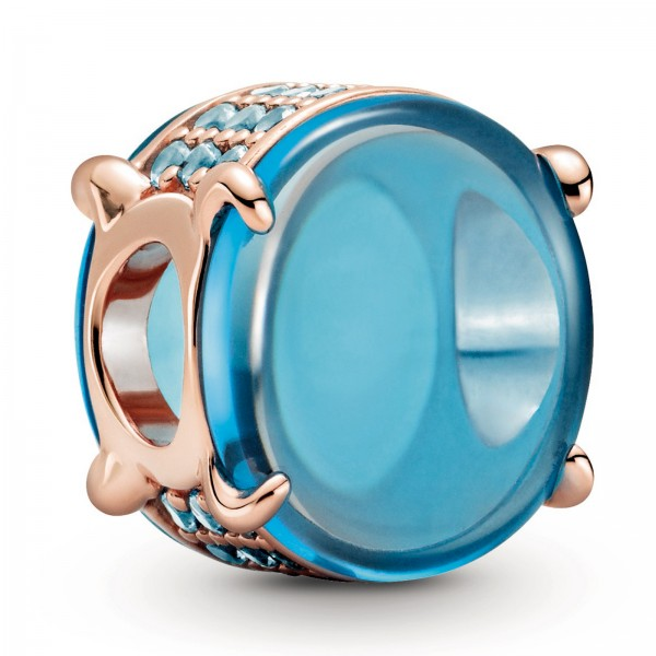 Blaues Ovales Cabochon PANDORA Charm 789309C01