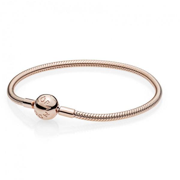 PANDORA ROSE Armband mit Kugelverschluss, glatt 580728