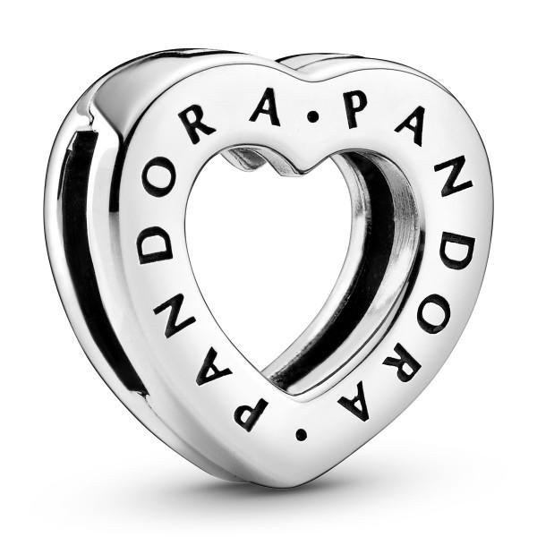PANDORA Logo Herz-Clip Charm 798741C00