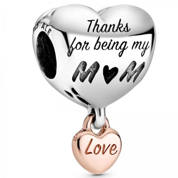 Love You Mum PANDORA Herz-Charm 788830C00