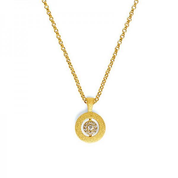 87606156 Collier PIROUETTI Silber Goldplattiert Zirkonia