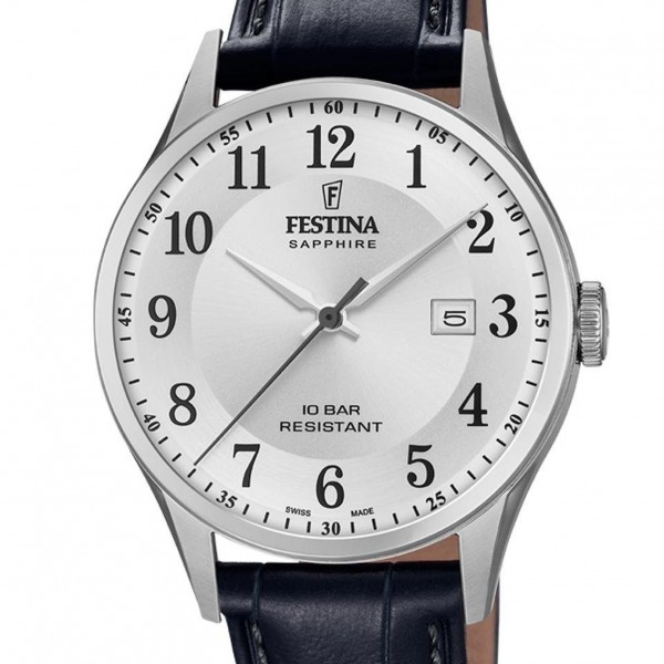 Festina Swiss Made Collection Herrenuhr in Silber F20007/1
