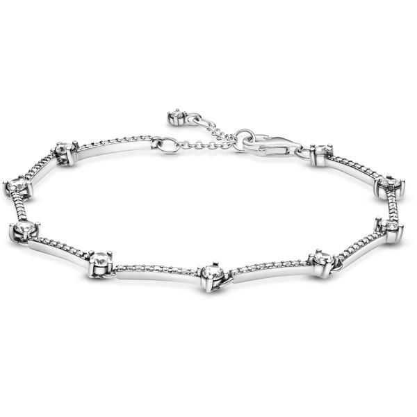 Funkelnde Pavé-Stäbe PANDORA Armband 599217C02