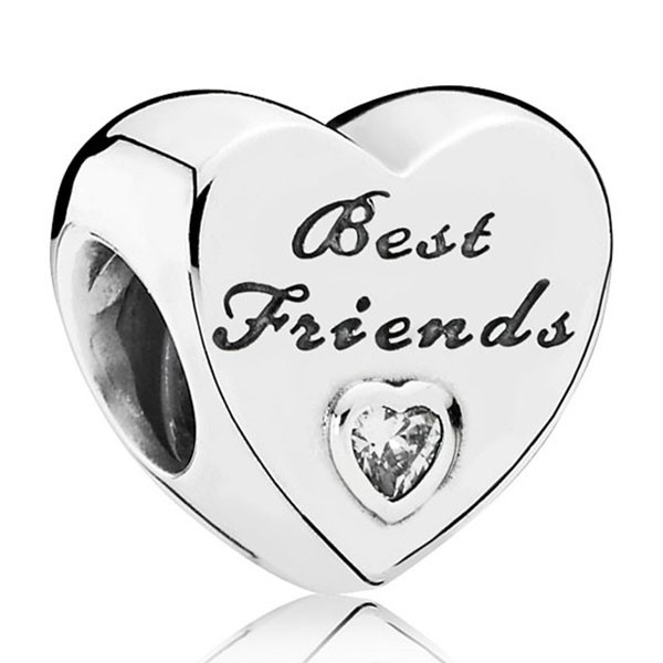 PANDORA Charm Best Friends-Herz 791727CZ
