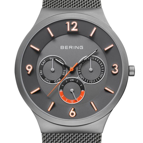 Classic   grau gebürstet   Bering Herrenuhr 33441-377