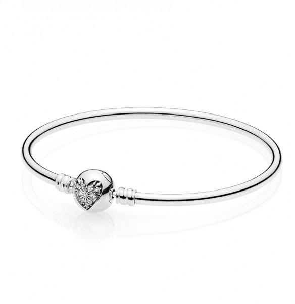PANDORA Charm + Armband Winter-Herz Geschenkset 596404CZ