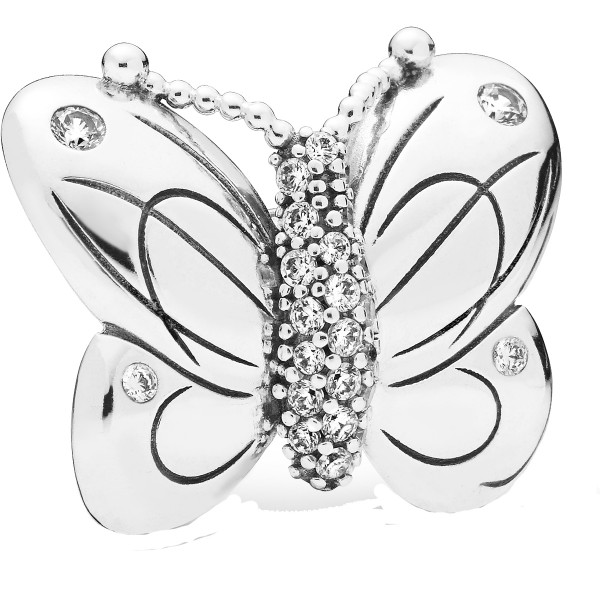 Decorative Butterfly PANDORA Clip 797880CZ