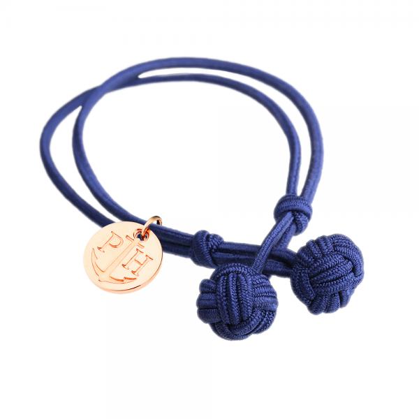 PAUL HEWITT Roségold Knotenarmband Marineblau PH-KB-N-S-R