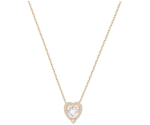 Swarovski Sparkling Dance Heart Halskette, Weiss, Rosé Vergoldung 5284188