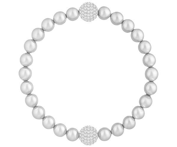 Swarovski Armband Remix Collection Light Gray Pearl 5364103