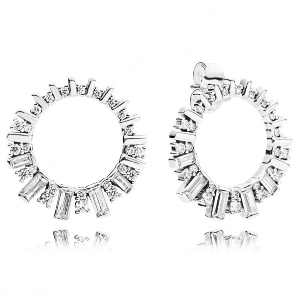 Eiswürfel PANDORA Ohrringe Ice cube silver earrings 297545CZ