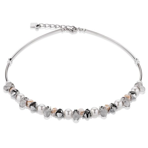 Coeur De Lion Collier Perlmutt & Swarovski® Kristalle silber 4826101700