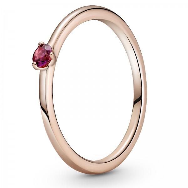 Roter PANDORA Solitär-Ring 189259C01