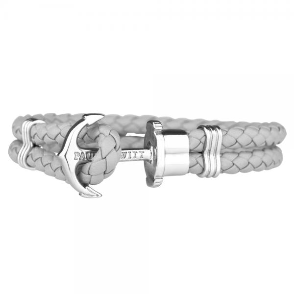 PAUL HEWITT PHREP Silber Anker Armband Grau PH-PH-L-S-Gr-S
