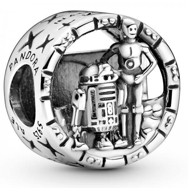 Star Wars C-3PO und R2-D2 offen gearbeitetes PANDORA Charm 799245C00