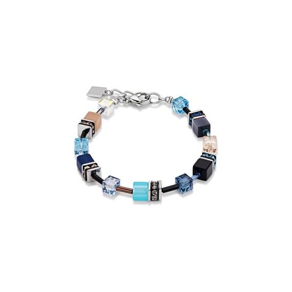 Coeur De Lion Geo Cube Armband blau-beige 2838300710